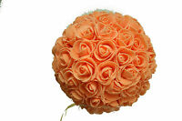 9 Inches Peach Rose Ball Pomander Kissing Ball (usa Seller Fast Shipping)