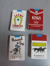 Original CANDY CIGARETTES 4 PACKS Nostalgic Retro-Vintage Candy Shop