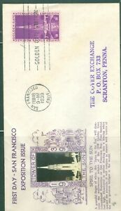 US -FDC-832 EXPOSITION ISSUE TOWER TO SUN SAN FRANCISCO CALIF. FEB18-1939 ADDR.