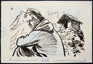 Dessin-original-de-Noel-GLOESNER-1917-1995-illustration-9-pour-Frimousse