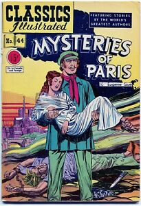 Classics-Illustrated-Mysteries-of-Paris-44-0-15-2nd-Ed-2b-HRN-62-FN