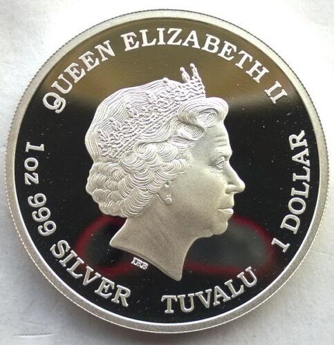 Tuvalu 2014 Unicorn Horse Dollar 1oz Silver Coin,Proof