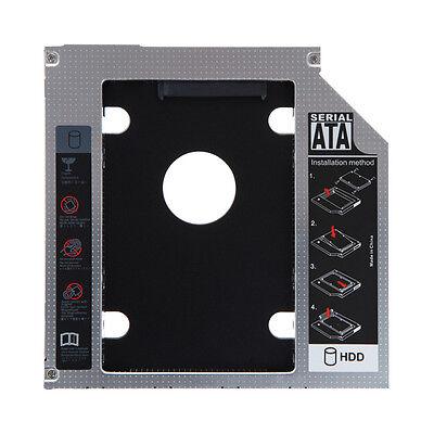 Universal 12.7mm SATA 2nd SSD HDD Hard Drive Caddy for DVD-ROM CD Optical Bay