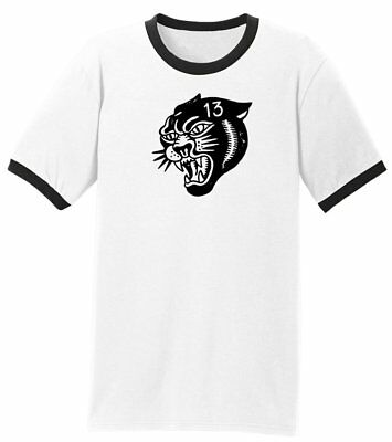 Authentic LUCKY 13 Panther Head Short Sleeve Rockabilly T-Shirt Black S-4XL NEW