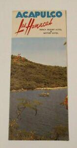 Vintage Travel Brochure 1920's Antique Advertising Acapulco Mexico Las Hamacas