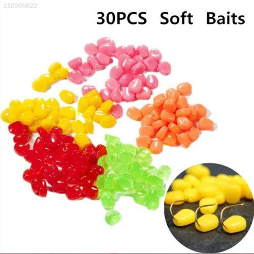 BEB2 30 Pcs Good Smell Fake Soft Lures Simulation Corn Bait Sweetcorn Fishing