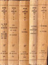 Oeuvres de Crébillon fils 5 tomes au Divan