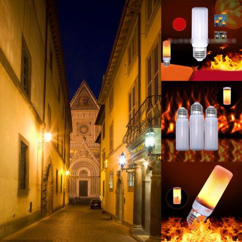 Creative E27 4//3 Mode LED Flicker Flame Light Bulb Simulated Burning Fire Effect