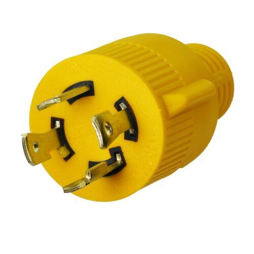 "Generator Adapter Cord 4-Prong Locking male Plug 30AMP to 30AMP Generator 18/"""
