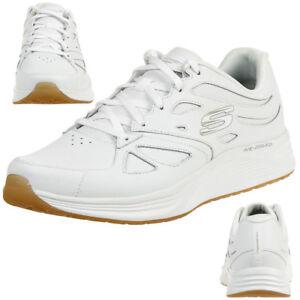 Skechers-Skylie-Woodmist-Men-039-s-Sneakers-Interior-Shoe-Leather-52963-Wht