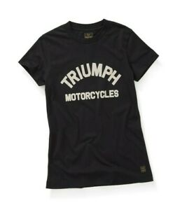 Triumph-Motorcycles-Luss-Ladies-Tee-Jet-Black-T-Shirt-NEW-MTSS20052