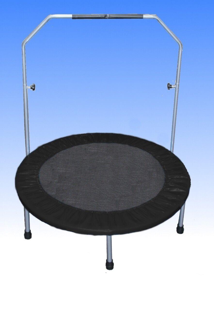 Trampolino 100 Cm Fitness Mini trampolino Fun jumping TONDO 1m Nero