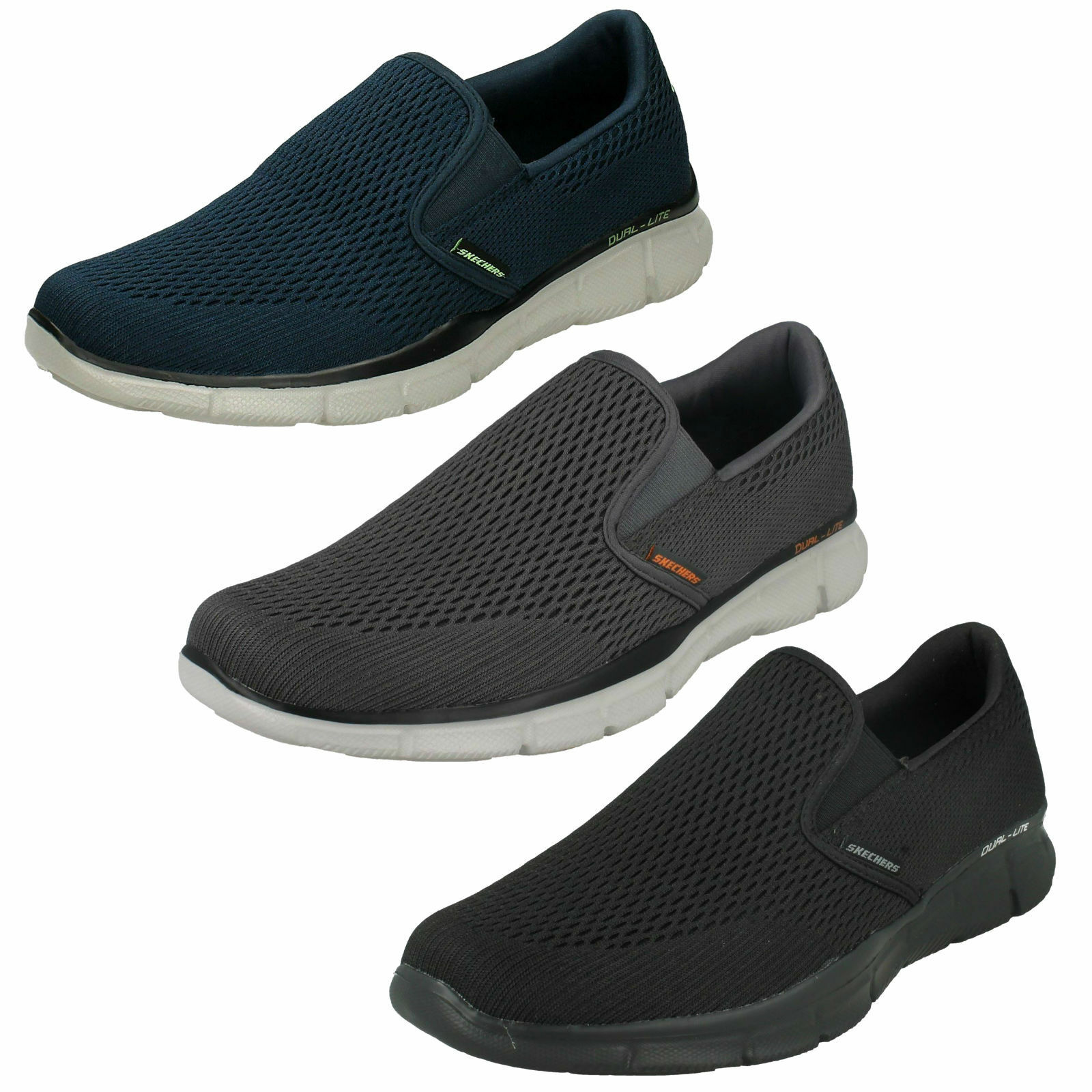 MENS SKECHERS EQUALIZER DOUBLE PLAY SLIP ON MEMORY FOAM TRAINERS SHOES 51509