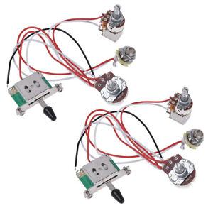 electric guitar wiring harness prewired kit 3 way toggle switch 1v1t 500k 2 pcs 634458745758 ebay. Black Bedroom Furniture Sets. Home Design Ideas