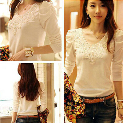 Hot New Fashion Women lady Slim Top Long Sleeve T Shirt Blouse