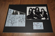 Queen Freddie Mercury (+) signed autógrafo 25x35 cm Passepartout inperson raras
