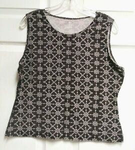 Ativa-Yoga-Women-039-s-Activewear-Tank-Top-Shirt-Brown-with-Geometric-Print-Size-XL