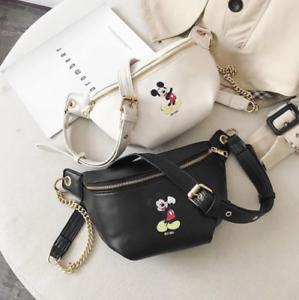 Details about Disney Fanny Pack Women Waist Shoulder Bag Belt Bag Fashion Bumbag Crossbody Bag