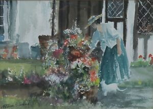 William-G-Perkins-British-20th-Century-The-String-Section-Signed-Watercolour