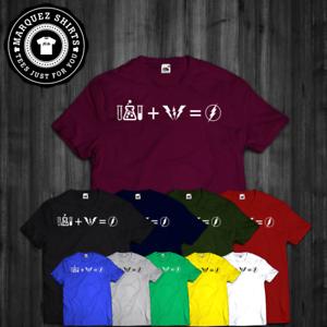 La imagen se está cargando Ecuacion-Camiseta-Flash-Formula-Big-Bang-Theory- Bazinga- 2de7e21b1bc