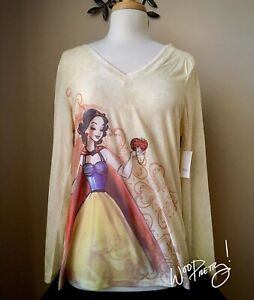 2011 Disney Designer Princess SNOW WHITE Fashion Long Sleeve Shirt NWT Size XL