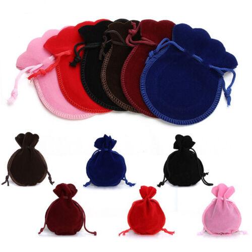 Bijoux 12pcs Sacs à cordon en velours Pochette Stockage Sac Cadeau Fête faveurs Supply