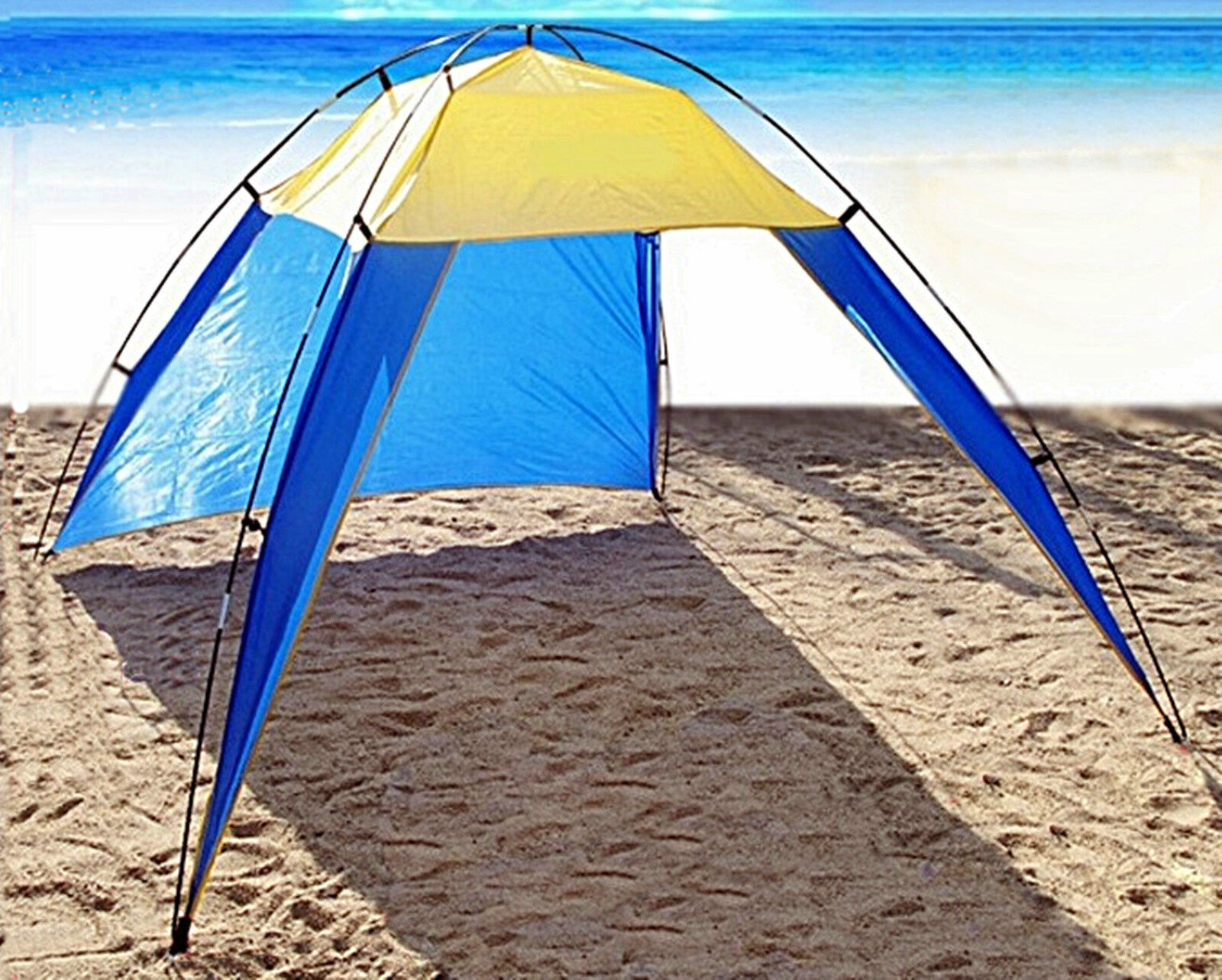 Uv Sun Protective Family Portable Tent Camping Waterproof Beach Shade Outdoor Ebay