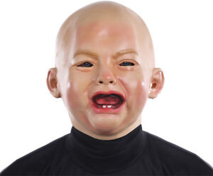 crying baby mask crybaby face creepy infant angry sad funny pvc