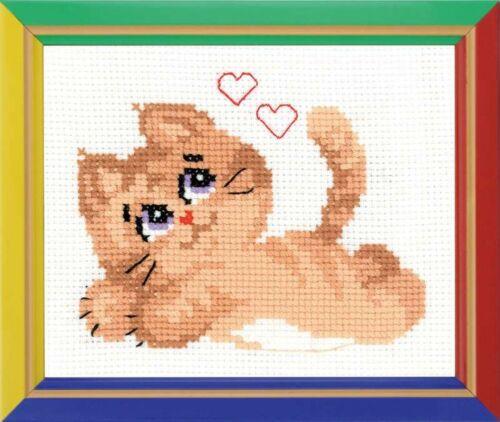 Riolis  HB132  Chat Kitty  Kit  Broderie  Point de Croix  Compté  facile  Aida