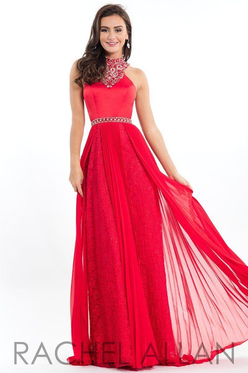 Rachel Rachel Rachel Allan Exclusive E1055 Red Stunning Pageant Prom Gown Dress sz 6 556f58