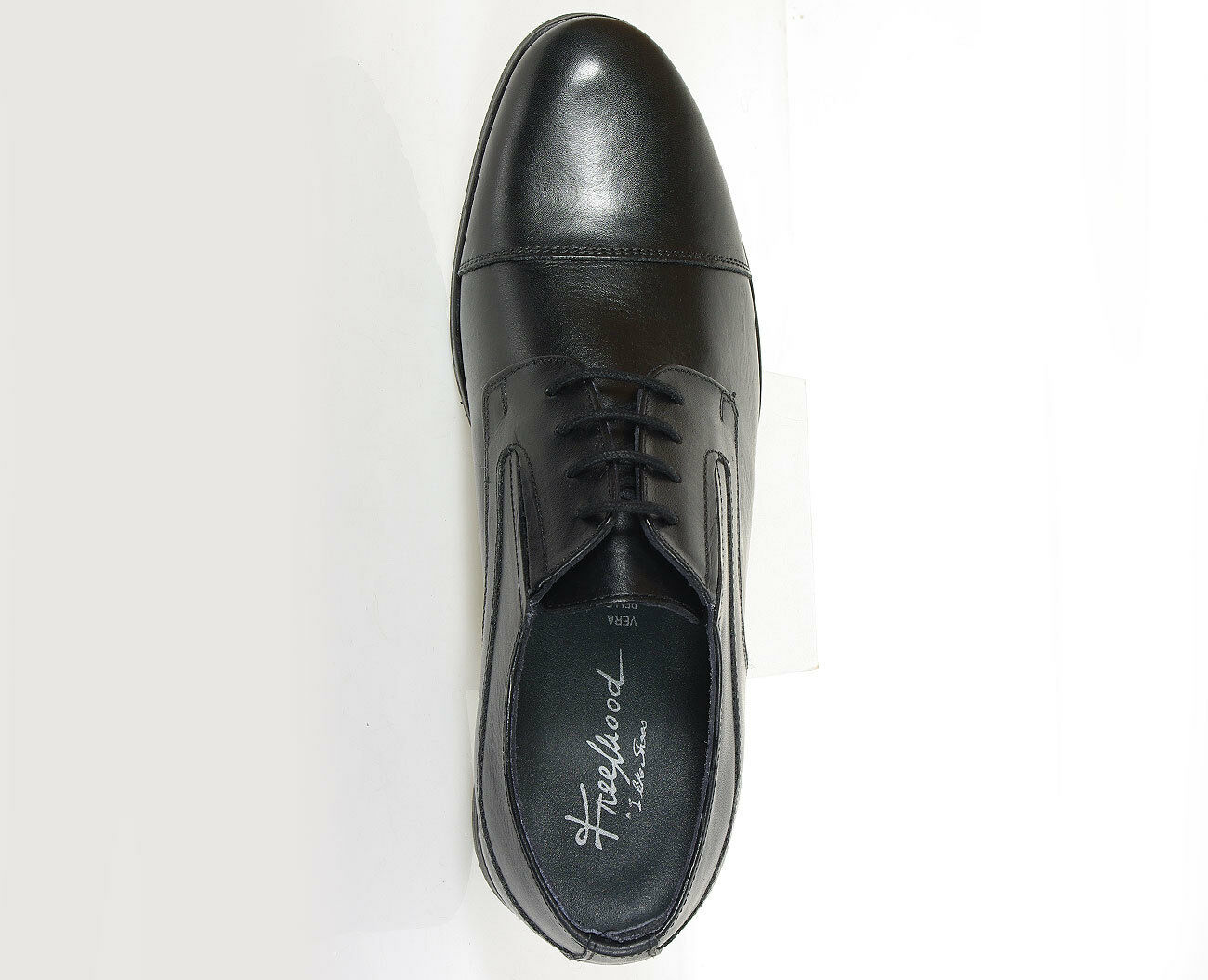 FREEMOOD shoes A050 VITELLO-FIORE NERO formal shoes FREEMOOD Made in Italy SALE 181ab9