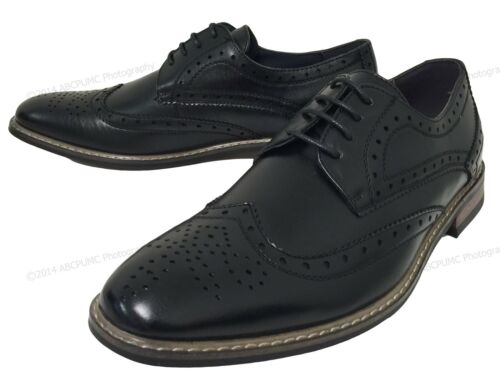 Lässige Mens Oxfords Line Wingtip Dress Brogue Größen Farben Schuhe Leder Lace Up z1zr0q