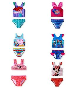 Girls' 2-pc Swimsuits Peppa Pig Ariel Minnie Mouse Paw Patrol Shimmer&shine Nwt Clothing, Shoes & Accessories