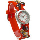 Ravel Kids Watch 3D Silicone Strap Racing Cars F1 Design Red 1513.31R