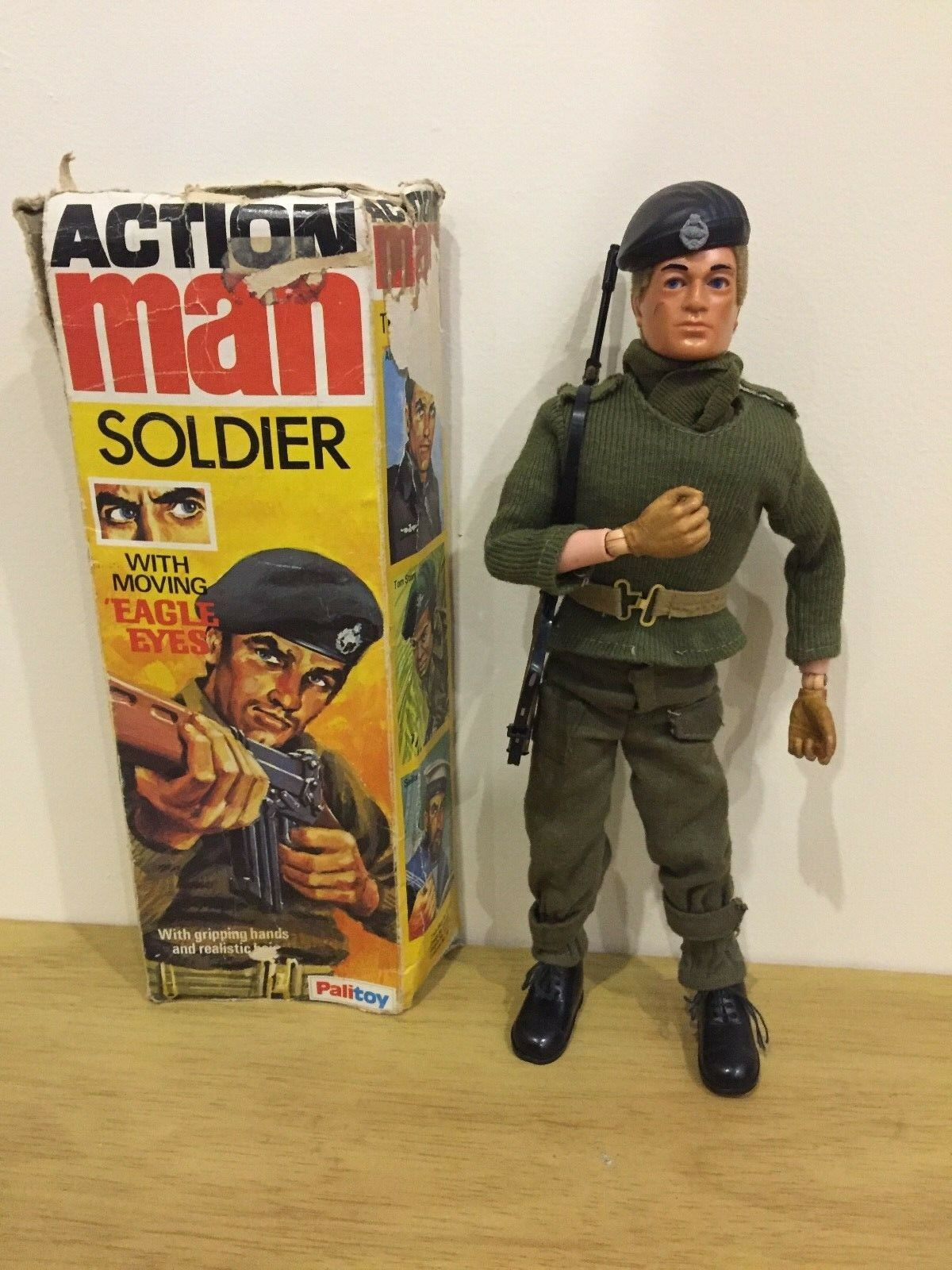 VINTAGE ACTION MAN BOXED FIGURE PALITOY BASIC SOLDIER