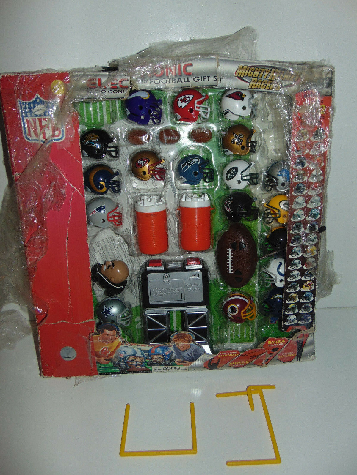 Mighty Helmet Racers NFL Teams Electronic Radio Controlled Football Gift Set