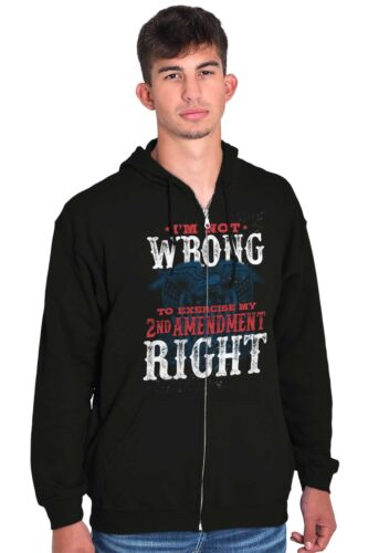 Wrong Right Patriotic USA ShirtAmerica Gift 2nd Amendment Zip Hoodie