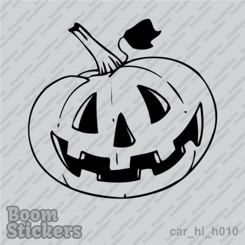 BUY 1 GET 1 FREE Halloween Vinyl Decal Sticker Pumpkin BOGO