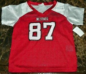 Large adidas Adult Women NCAA Replica Football Jersey Red North Carolina State Wolfpack