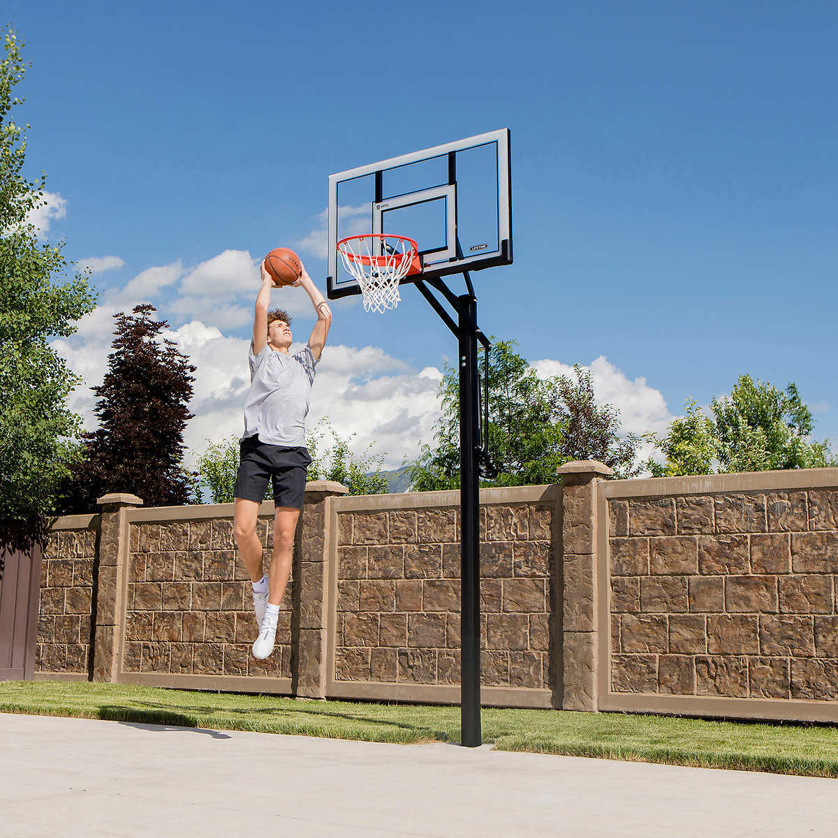 54 Inch Acrylic Backboard Lifetime 71522 Competition XL Portable Basketball System