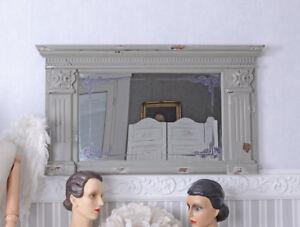 Cornice Per Camino Shabby Chic : Specchio gründerzeit muro shabby chic decorativo trumeau antico ebay