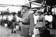 WW2 - Généraux de Gaulle et de Larminat à Brazzaville le 31 janvier 1944