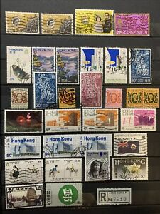 1962-85 Hong Kong, Used Stamp Collection 31 Stamps
