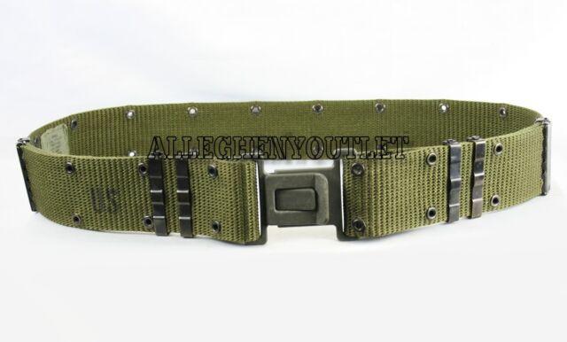 US Military Individual Equipment Pistol Web Belt OD Green Grey Buckle Large  VGC 7cb96735ccb3