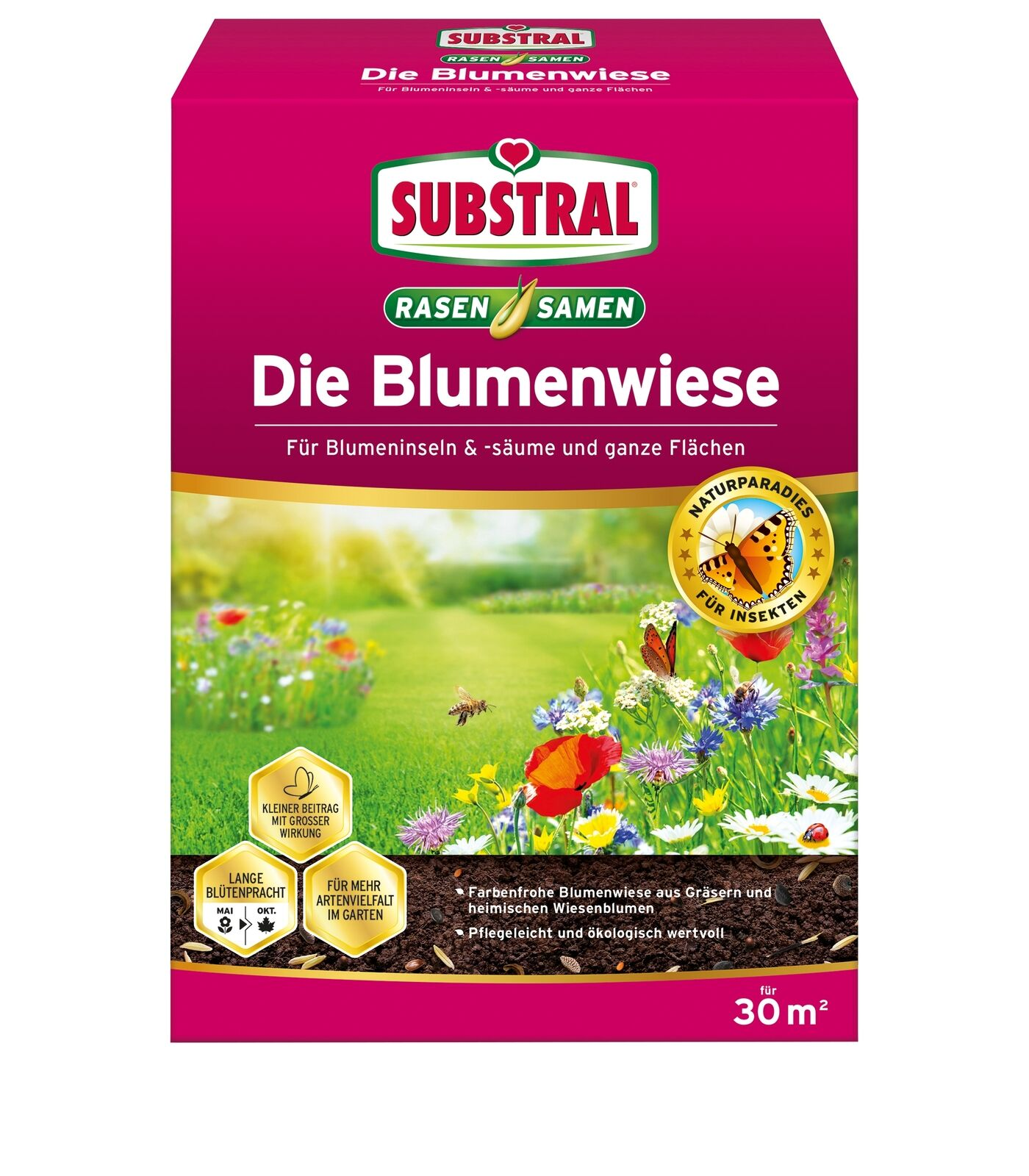 Substral Die Flower Meadow, Lawn & Flower Seeds, 300 G for 30 M ²