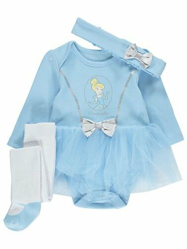 Baby Disney Prinzessin Cinderella 3 Teile Party Kostüm//Kostüm//Outfit 0-18