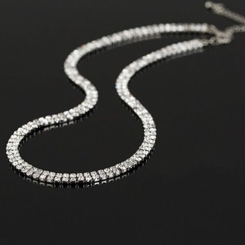 Set Collier Necklace Silver Rhinestone Bridal Jewellery Wedding Bridal Jewellery Wedding