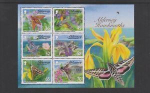 Alderney-2011-Hawk-Motten-Blatt-MNH-Sg-MSA421
