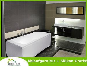 badewanne wanne rechteck eckwanne 120 140 x 70 cm sch rze ablauf silikon majka ebay. Black Bedroom Furniture Sets. Home Design Ideas