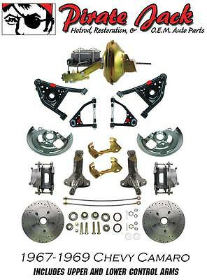 1967-1969 Chevy Camaro Front And Rear  Disc Brake  Kit W Tubular Control A Arms